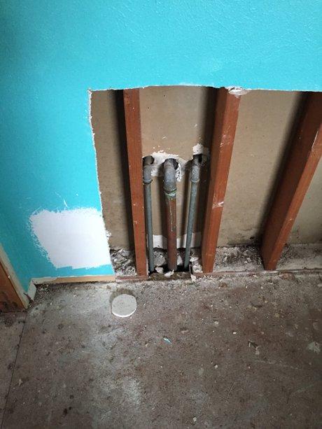 hall bath plumbing