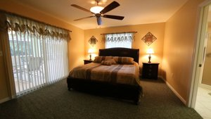 The over-sized master bedroom