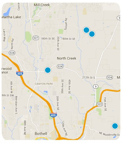 Bothell Interactive Map Search