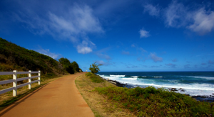 The path by the sea, Ke Ala Hele Makalae, approaching Kealia Beach