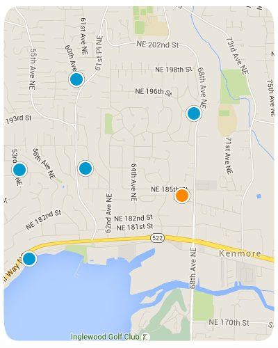 Kenmore Interactive Map Search
