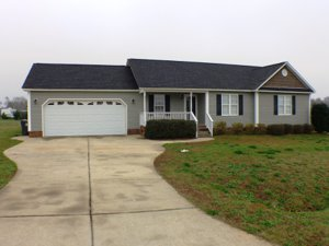 Front view of home at 113 JJ Dr in Benson NC 27504