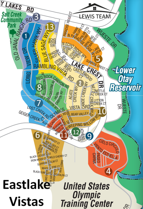 Eastlake Vistas Map