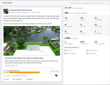 Facebook Marketing on Siesta Key done right by John Woodward