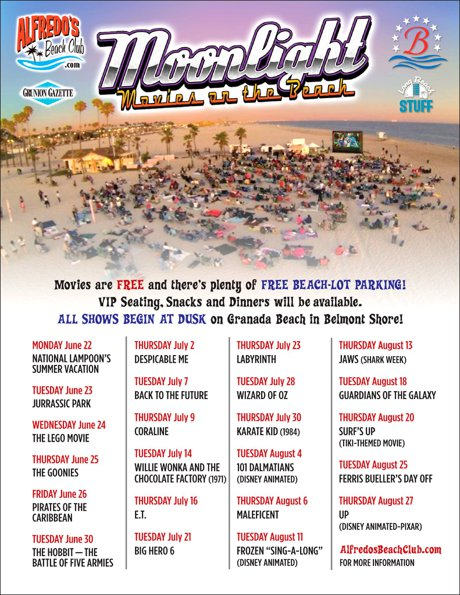 Granada Beach in Belmont Shore Movie Schedule 2015