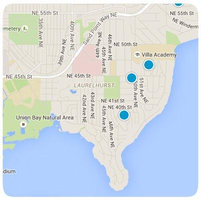 Laurelhurst Ineractive Map Search
