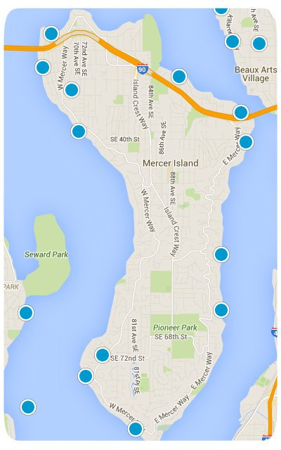 Mercer Island Interactive Map Search