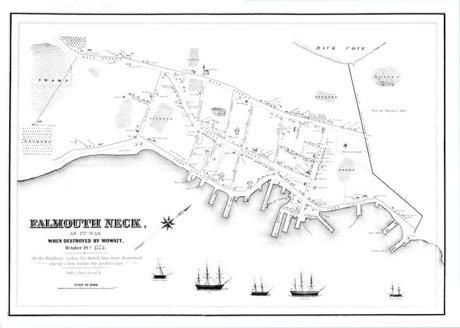 Portland Maine 1775 Map