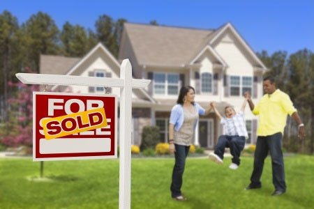 Real estate agent helping to sell a house