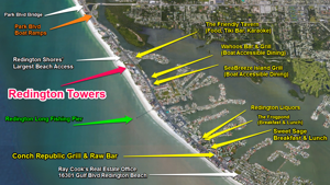 Redington towers Redington Shores Feature Map