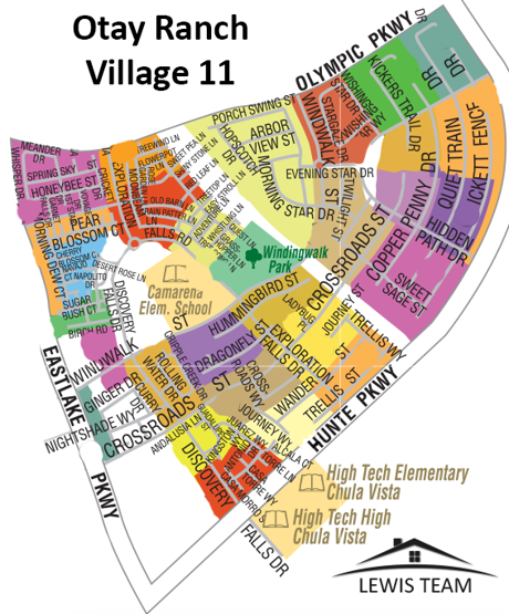 Otay Ranch Village 11 Map