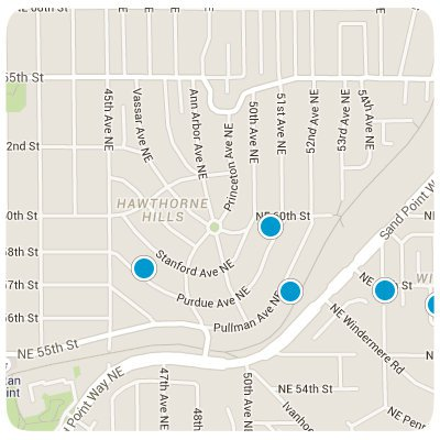 Hawthorne Hills Interactive Map Search
