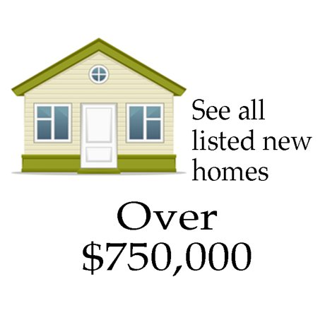 Find new construction homes in Denton County over $750,000