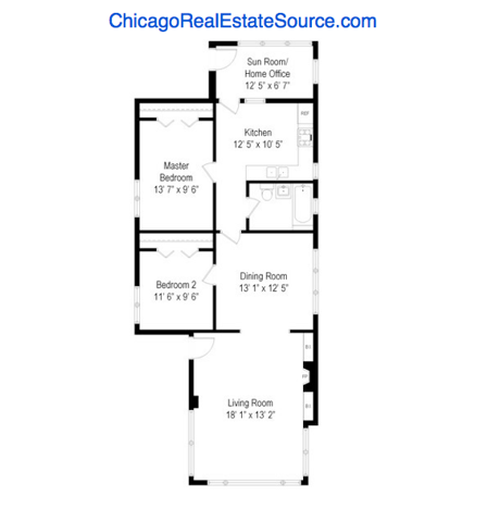 Jefferson Park 2 flat for sale