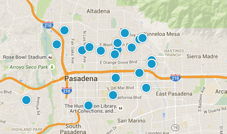 Interactive home search in Pasadena California