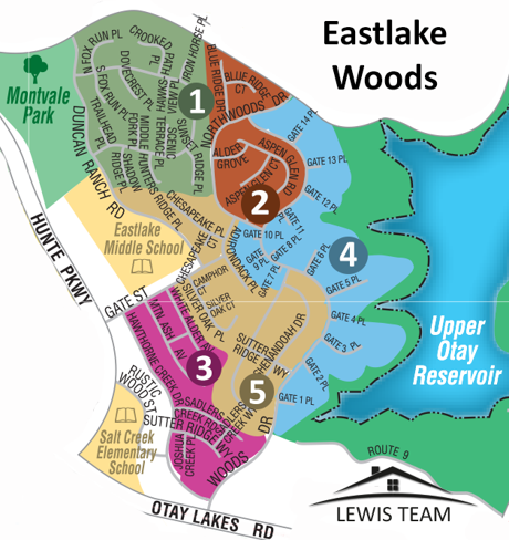 Eastlake Woods Map