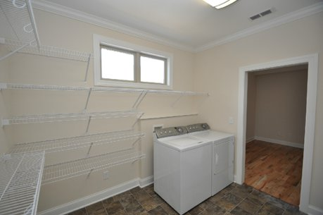 Walk in closet with laundry