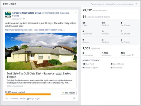 Facebook Ad Results for 3957 Easton Terrace in Gulf Gate East - Sold by John Woodward