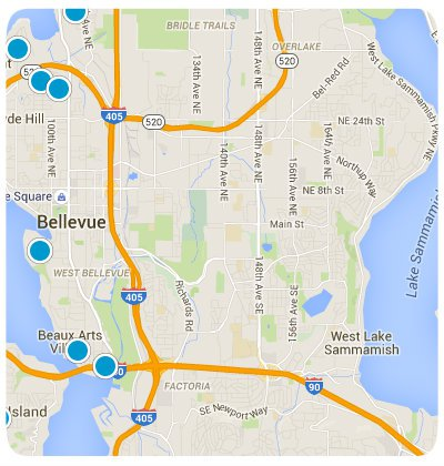 Bellevue Interactive Map Search