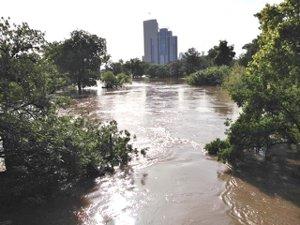 Buffalo Bayou in Flood by Carol Smith