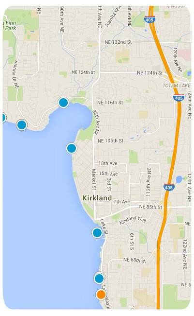 Kirkland Interactive Map Search