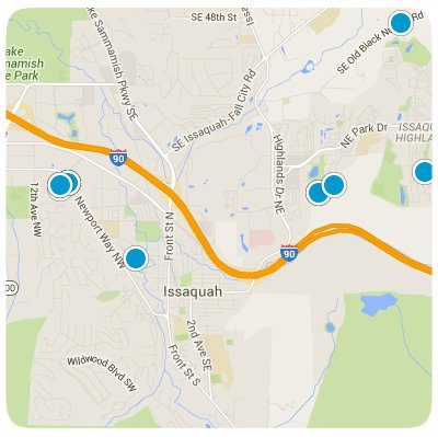 Issaquah Interactive Map Search