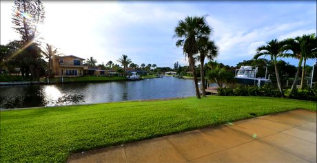 Canal View of 5409 Azure Way for Sale on Siesta Key