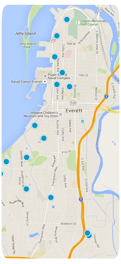 Everett Interactive Map Search