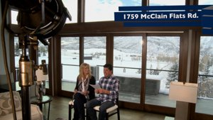Aspen's Only Real Estate TV Show Talking Dirt on location at 1759 Mclain Flats Road Aspen Colorado