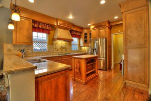 Creek Bridge Home for sale with custom kitchen