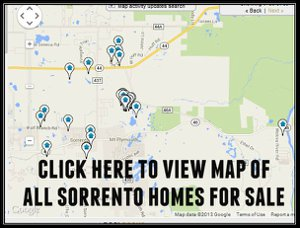 Map of Sorrento Homes for Sale