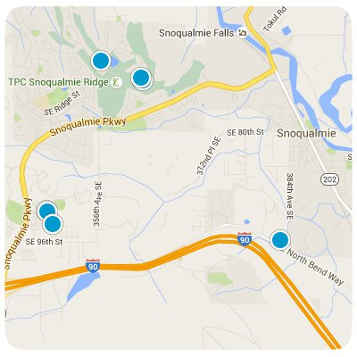 Snoqualmie Interactive Map Search