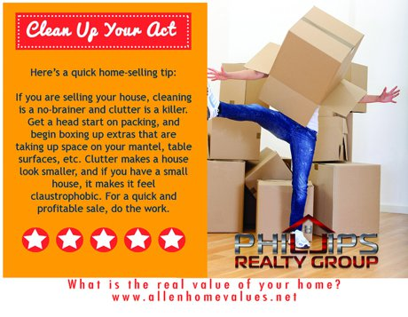 Clearing clutter when selling a home