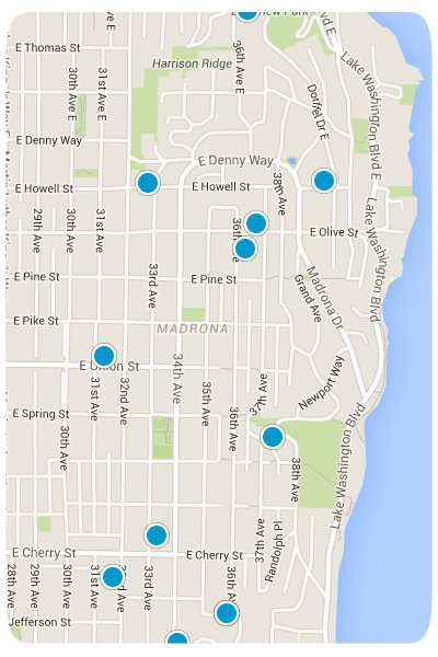 Madrona Interactive Map Search