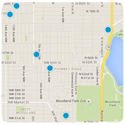 Phinney Ridge Interactive Map Search