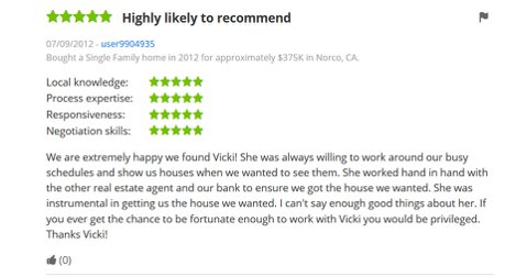 Zillow Reviews Vicki pedersen Pedersen Real Estate