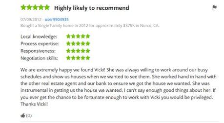 Zillow Reviews Vicki pedersen Pedersen Real Estate