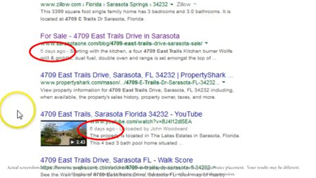 Sellers like to see their home getting noticed in Sarasota
