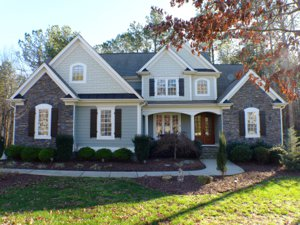 Front view of home at 50 Evening Ln_Clayton NC