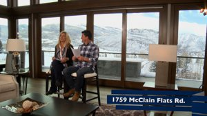 Aspen Real Estate TV Show Talking Dirt shooting on location at 1759 Mclain Flats Road