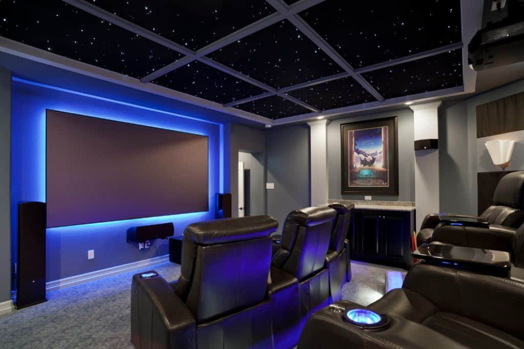Man Cave Fort Nelson : Denver homes with a home theater the david hakimi team at
