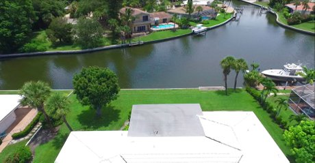 Rear View of 5409 Azure Way now for Sale on Siesta Key
