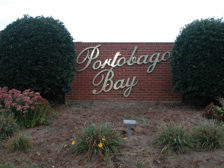 Portobago Bay sign at entrance