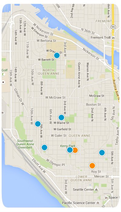 Queen Anne Interactive Map Search