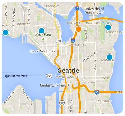 Central Seattle Interactive Map Search