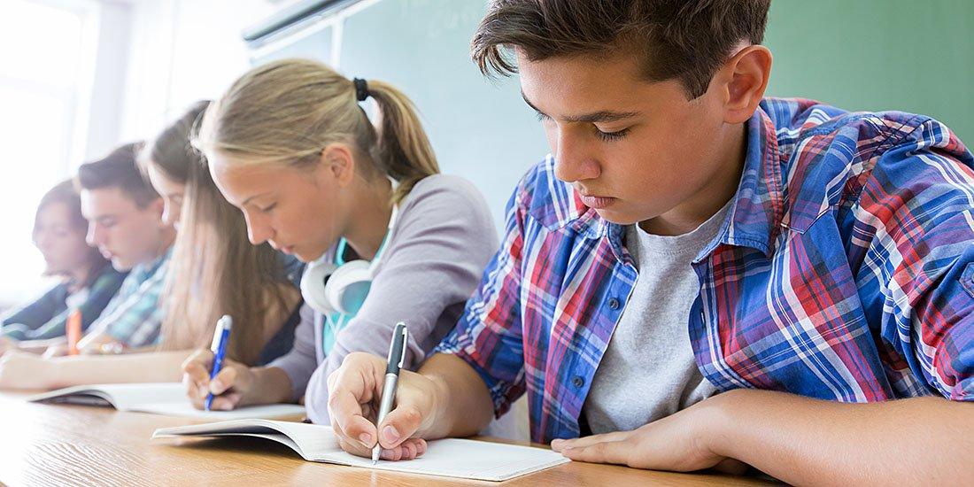 Children Taking a Test at School