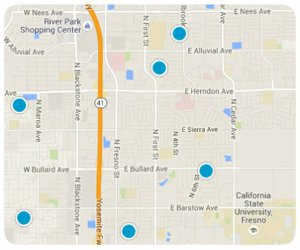 Clovis Home Search Interactive map