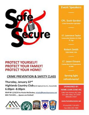 Crime Prevention & Safety Class in Chesterfield VA