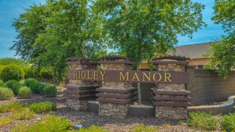Higley Manor Community Sign