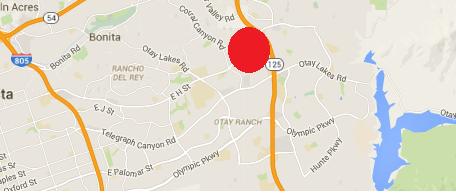 Eastlake I location map